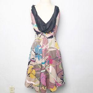Anthropologie Maeve Sleeveless Print Dress 10